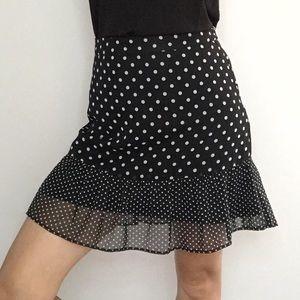 💕 RD Style Women's Flare Black White Dots Skirt